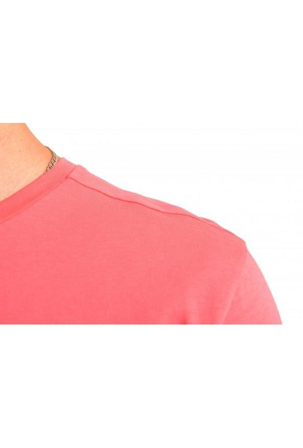 "Hugo Boss Men's ""Tee 3"" Pink Logo Print Crewneck T-Shirt: Picture 4"