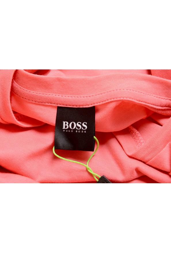 "Hugo Boss Men's ""Tee 3"" Pink Logo Print Crewneck T-Shirt: Picture 5"