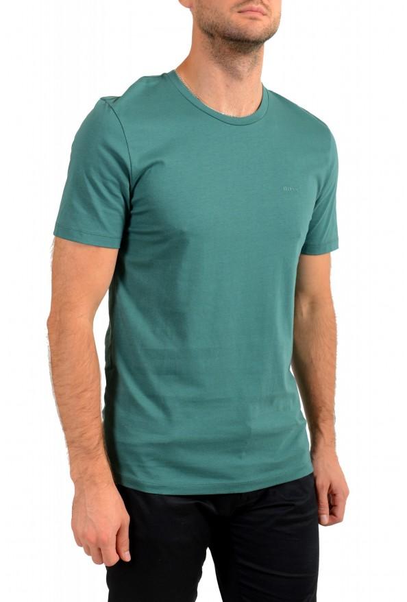 "Hugo Boss Men's ""Lecco 80"" Green Logo Print Crewneck T-Shirt: Picture 2"
