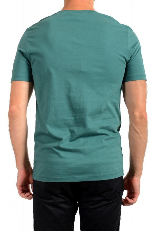 "Hugo Boss Men's ""Lecco 80"" Green Logo Print Crewneck T-Shirt: Picture 3"