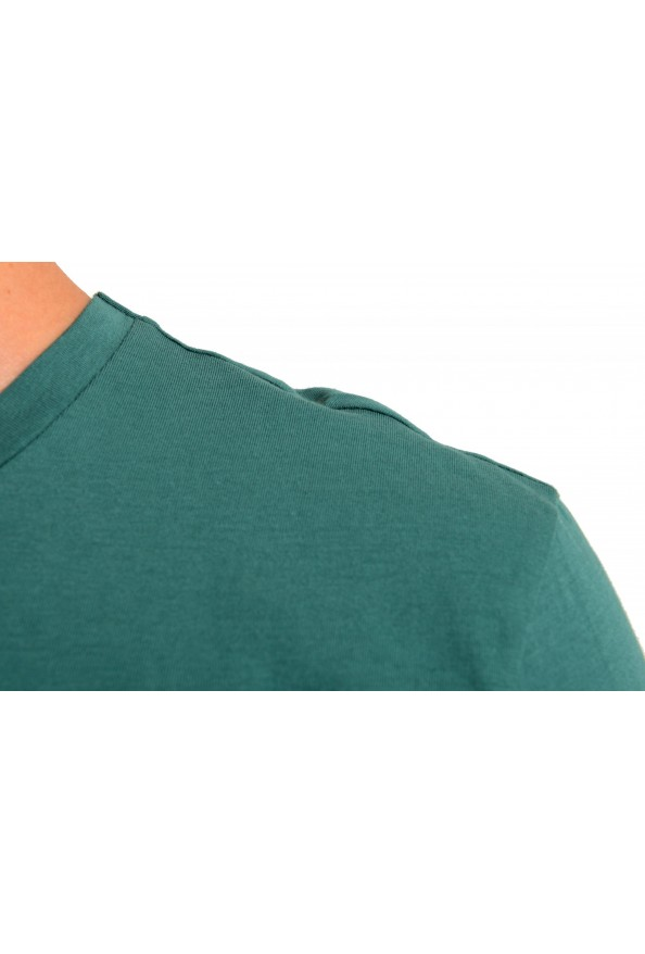 "Hugo Boss Men's ""Lecco 80"" Green Logo Print Crewneck T-Shirt: Picture 4"