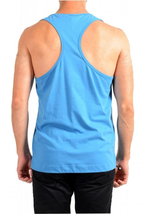 "Hugo Boss Men's ""TREPTOP"" Blue Logo Print Tank Top T-Shirt: Picture 3"