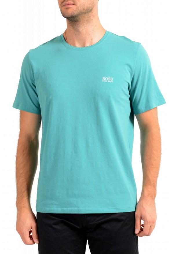 """Hugo Boss Men's """"Mix&Match"""" Green Stretch Crewneck T-Shirt"""