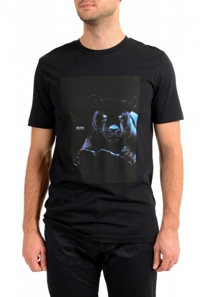 "Hugo Boss Men's ""Terisk"" Black Crewneck Graphic Print T-Shirt"