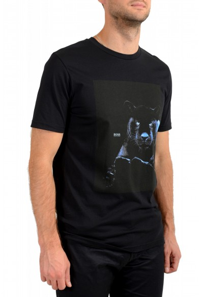 "Hugo Boss Men's ""Terisk"" Black Crewneck Graphic Print T-Shirt: Picture 2"