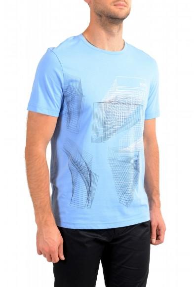 "Hugo Boss Men's ""Tee 2"" Blue Logo Print Crewneck T-Shirt: Picture 2"