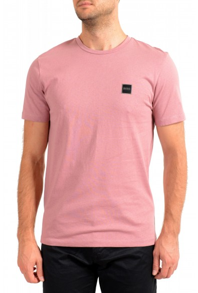 "Hugo Boss Men's ""Tales"" Pink Crewneck T-Shirt"