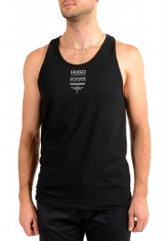 "Hugo Boss Men's ""TREPTOP"" Black Logo Print Tank Top T-Shirt"