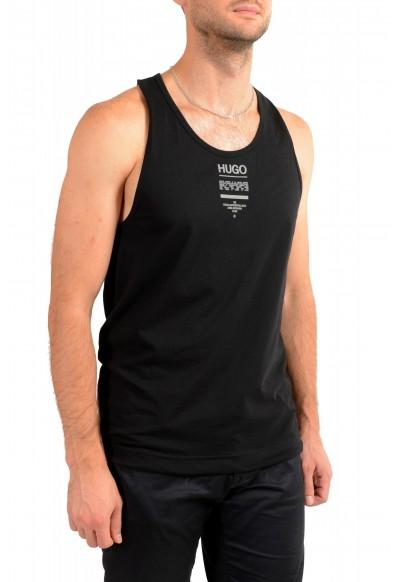 "Hugo Boss Men's ""TREPTOP"" Black Logo Print Tank Top T-Shirt: Picture 2"