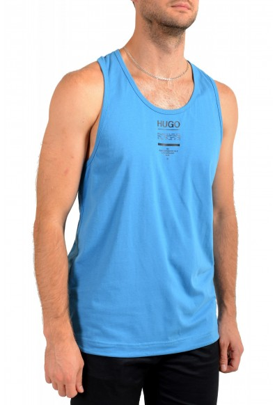 "Hugo Boss Men's ""TREPTOP"" Teal Blue Logo Print Tank Top T-Shirt: Picture 2"