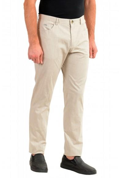 "Hugo Boss Men's ""Gaetano1"" Beige Flat Front Casual Pants: Picture 2"