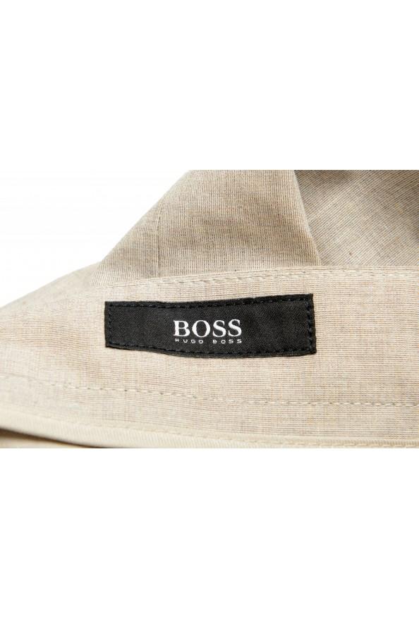 "Hugo Boss Men's ""Gaetano1"" Beige Flat Front Casual Pants: Picture 5"