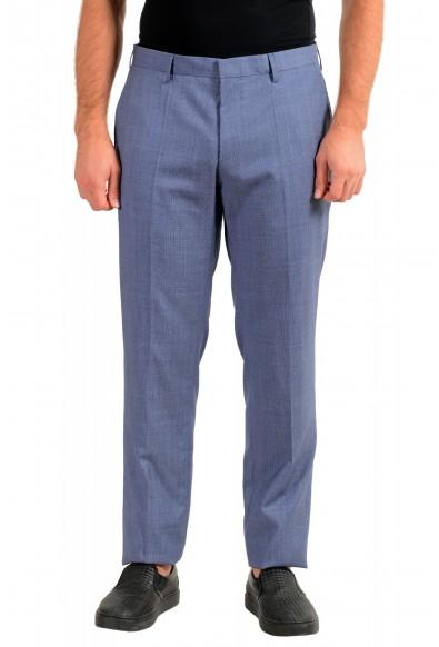 """Hugo Boss Men's """"Genesis4"""" Extra Slim 100% Wool Blue Dress Pants"""