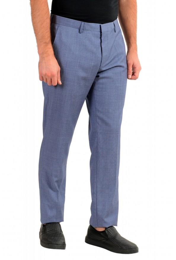 """Hugo Boss Men's """"Genesis4"""" Extra Slim 100% Wool Blue Dress Pants: Picture 2"""