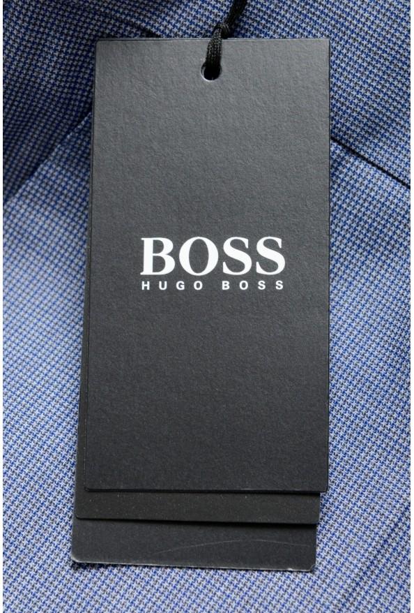"""Hugo Boss Men's """"Genesis4"""" Extra Slim 100% Wool Blue Dress Pants: Picture 4"""