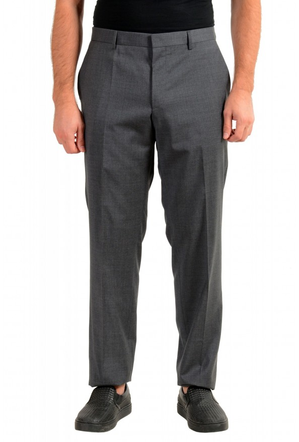 "Hugo Boss Men's ""Genesis2"" Slim Fit Gray 100% Wool Dress Pants"