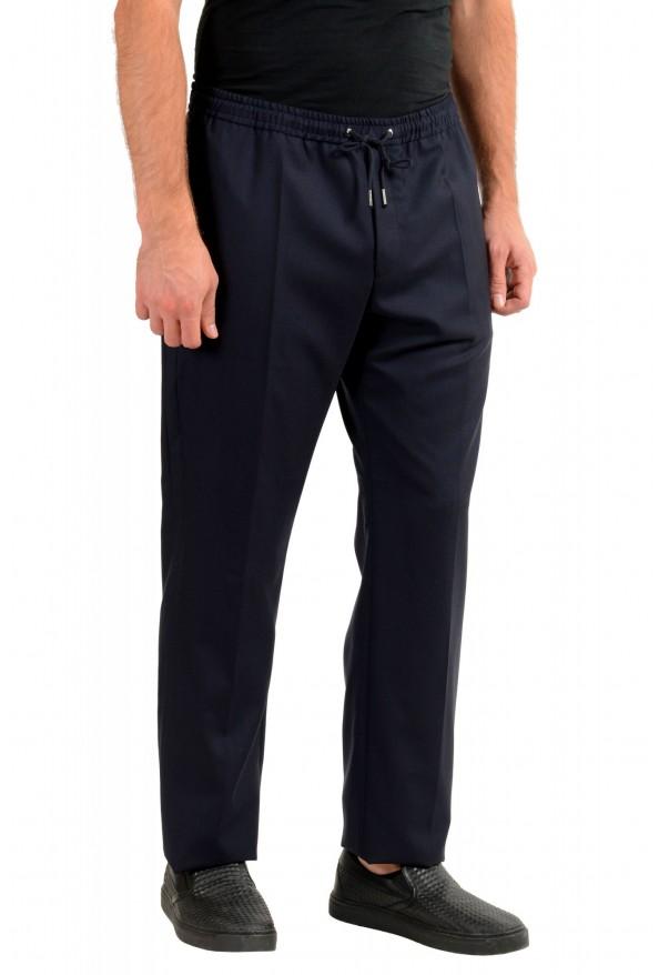 "Hugo Boss Men's ""Barne1"" Navy Blue 100% Wool Flat Front Casual Pants: Picture 2"