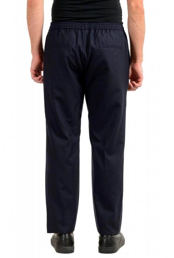 "Hugo Boss Men's ""Barne1"" Navy Blue 100% Wool Flat Front Casual Pants: Picture 3"