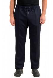 "Hugo Boss Men's ""Barne1"" Navy Blue 100% Wool Flat Front Casual Pants"