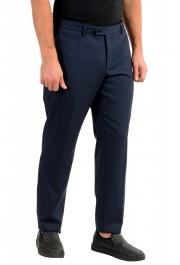"Hugo Boss Men's ""T-Bryce"" Blue Wool Flat Front Pants: Picture 2"