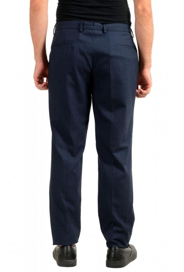 "Hugo Boss Men's ""T-Bryce"" Blue Wool Flat Front Pants: Picture 3"