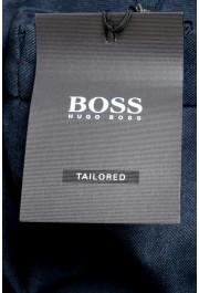 "Hugo Boss Men's ""T-Bryce"" Blue Wool Flat Front Pants: Picture 4"