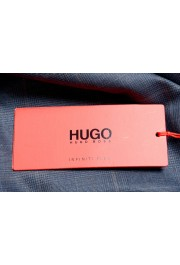 "Hugo Boss Men's ""Hesten194"" Blue Plaid Wool Flat Front Dress Pants: Picture 4"