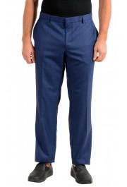 "Hugo Boss Men's ""Novan5/Ben2"" Slim Fit Blue 100% Wool Dress Pants"