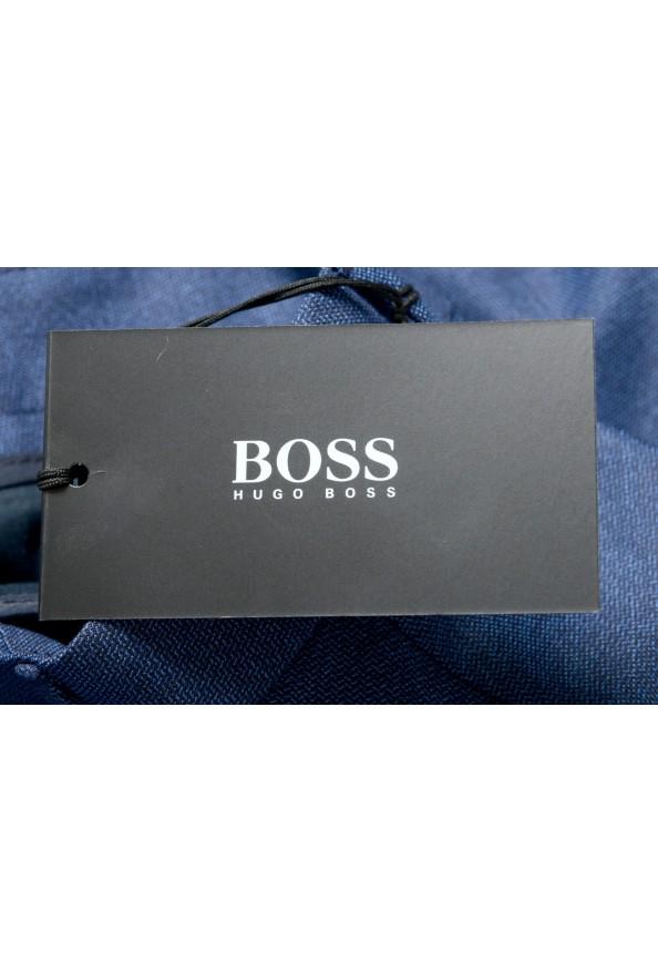 "Hugo Boss Men's ""Novan5/Ben2"" Slim Fit Blue 100% Wool Dress Pants: Picture 4"