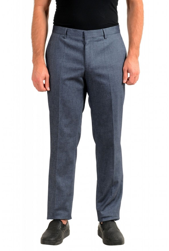 "Hugo Boss Men's ""Benso"" Blue Flat Front Pants"