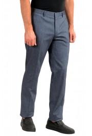 "Hugo Boss Men's ""Benso"" Blue Flat Front Pants: Picture 2"