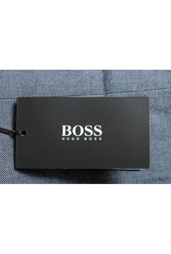 "Hugo Boss Men's ""Benso"" Blue Flat Front Pants: Picture 4"
