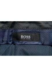 "Hugo Boss Men's ""Benso"" Blue Flat Front Pants: Picture 5"