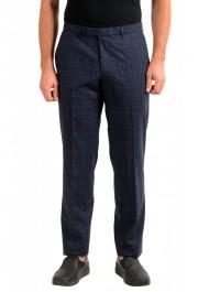 "Hugo Boss Men's ""Simmons182"" Regular Fit Plaid Wool Flat Front Dress Pants"