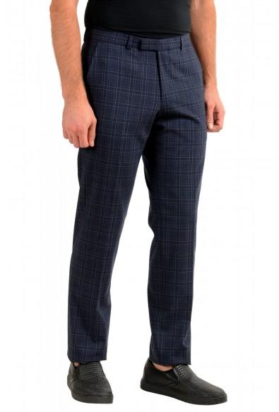 "Hugo Boss Men's ""Simmons182"" Regular Fit Plaid Wool Flat Front Dress Pants: Picture 2"
