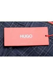 "Hugo Boss Men's ""Simmons182"" Regular Fit Plaid Wool Flat Front Dress Pants: Picture 4"
