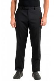"Hugo Boss Men's ""Leanon1"" Regular Fit Plaid 100% Wool Flat Front Dress Pants"