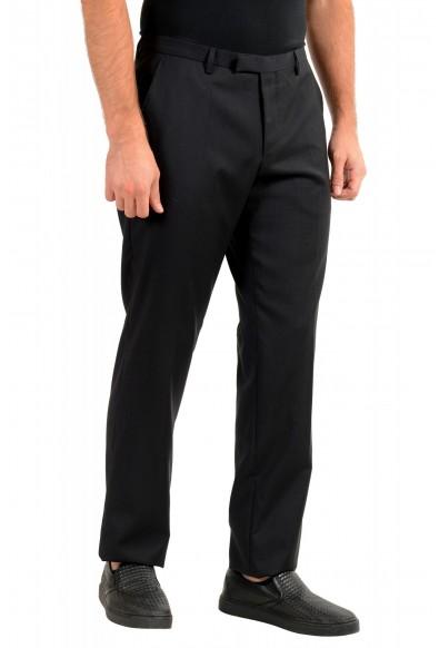 "Hugo Boss Men's ""Leanon1"" Regular Fit Plaid 100% Wool Flat Front Dress Pants: Picture 2"