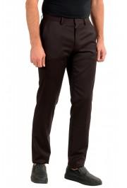 "Hugo Boss Men's ""Gido"" Brown 100% Wool Flat Front Dress Pants: Picture 2"