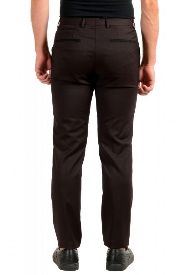 "Hugo Boss Men's ""Gido"" Brown 100% Wool Flat Front Dress Pants: Picture 3"