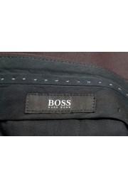 "Hugo Boss Men's ""Gido"" Brown 100% Wool Flat Front Dress Pants: Picture 5"