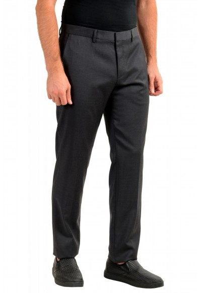 "Hugo Boss Men's ""Gido"" Gray 100% Wool Flat Front Dress Pants: Picture 2"