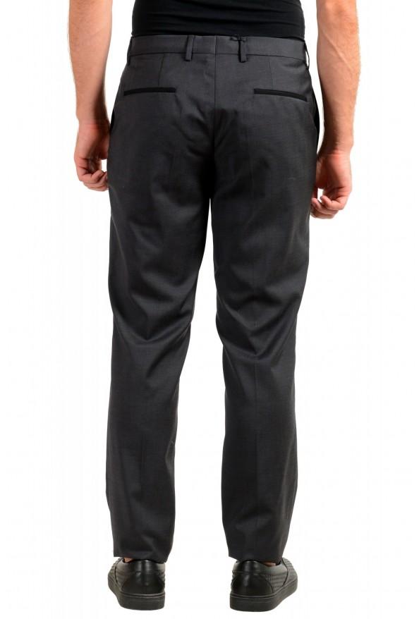 "Hugo Boss Men's ""Gido"" Gray 100% Wool Flat Front Dress Pants: Picture 3"