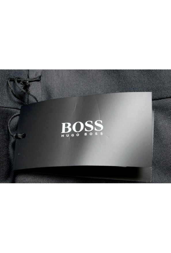 "Hugo Boss Men's ""Gido"" Gray 100% Wool Flat Front Dress Pants: Picture 4"