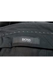 "Hugo Boss Men's ""Gido"" Gray 100% Wool Flat Front Dress Pants: Picture 5"
