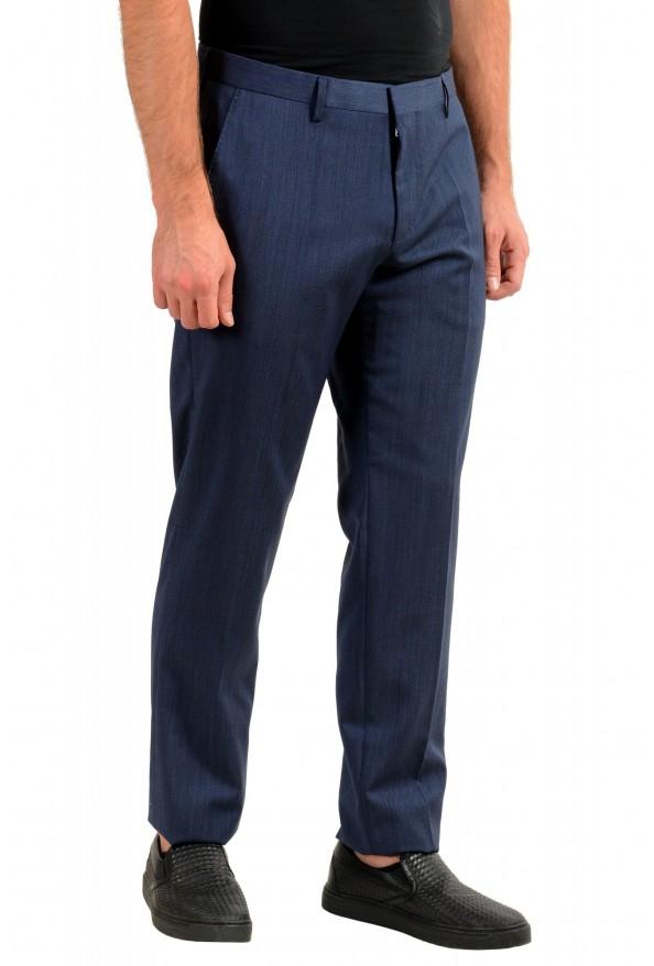 "Hugo Boss Men's ""Genius5"" Slim Fit Blue 100% Wool Flat Front Dress Pants: Picture 2"