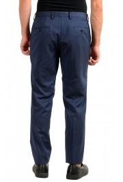 "Hugo Boss Men's ""Genius5"" Slim Fit Blue 100% Wool Flat Front Dress Pants: Picture 3"