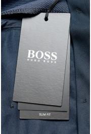 "Hugo Boss Men's ""Genius5"" Slim Fit Blue 100% Wool Flat Front Dress Pants: Picture 4"