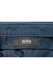 "Hugo Boss Men's ""Genius5"" Slim Fit Blue 100% Wool Flat Front Dress Pants: Picture 5"