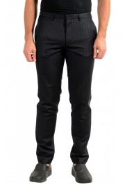 "Hugo Boss Men's ""Arti-Hesten193"" Extra Slim Fit Wool Striped Dress Pants"
